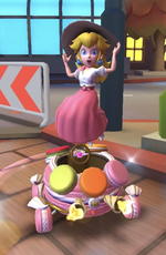 Peach (Vacation) performing a trick.