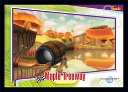 The Maple Treeway card from the Mario Kart Wii trading cards