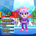 Blaze the Cat Mii Costume in the game Mario & Sonic at the London 2012 Olympic Games for the Wii.
