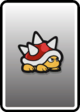 A Spiny card from Paper Mario: Color Splash