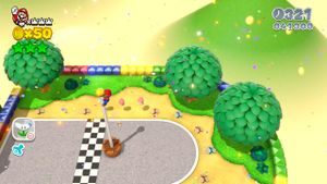 8-bit Luigi found in Mount Must Dash in Super Mario 3D World.
