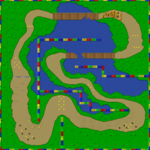 The map for Donut Plains 3.