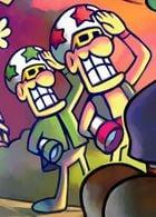 An artwork of the Starshade Bros. from Mario & Luigi: Superstar Saga.
