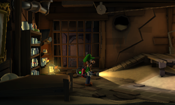 The Storm Cellar segment from Luigi's Mansion: Dark Moon.