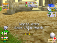 Waste Area terrain in Mario Golf: Toadstool Tour.