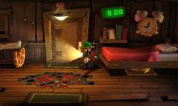 The Clockmaker's Chambers segment from Luigi's Mansion: Dark Moon.