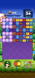 Stage 267 from Dr. Mario World