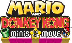 The logo for Mario and Donkey Kong: Minis on the Move