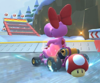 The icon of the Birdo Cup challenge from the 2020 Yoshi Tour in Mario Kart Tour.