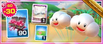The Cloud Glider Pack from the London Tour in Mario Kart Tour