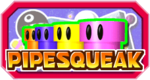 The logo for Pipesqueak in Mario Party 3