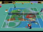 MT64 Baby Mario and Yoshi court.png