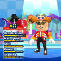 Dr. Eggman Mii Costume in the game Mario & Sonic at the London 2012 Olympic Games for the Wii.