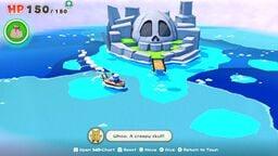 Bonehead Island in Paper Mario: The Origami King