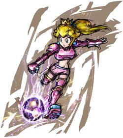 Princess Peach's artwork in Mario Strikers Charged.