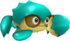Rendered model of the turquoise Crabber enemy in Super Mario Galaxy.