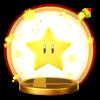 Super Star's trophy render from Super Smash Bros. for Wii U