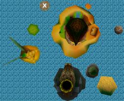 Full map of the DK Isles.