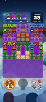 Stage 1165 from Dr. Mario World
