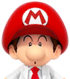 Sprite of Dr. Baby Mario from Dr. Mario World
