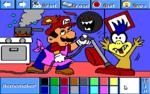 Mario as a homemaker.