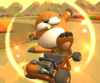 The icon of the King Boo Cup challenge from the Pirate Tour and the Monty Mole Cup challenge from the Summer Tour in Mario Kart Tour.