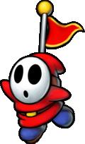 Captain Shy Guy in Mario & Luigi: Superstar Saga + Bowser's Minions.