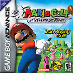 The front North American cover for Mario Golf: Advance Tour
