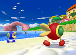 The icon for Peach Beach, from Mario Kart Double Dash!!.