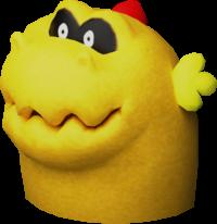 Rendered model of the Sandmaargh enemy in Super Mario 3D Land.