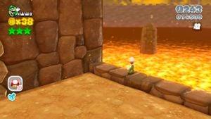 Hidden Luigi found in Rammerhead Reef in Super Mario 3D World.