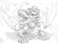 SMO Concept Art Ruined Dragon (Rough Sketch).png