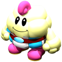 Artwork of Mallow from Super Mario RPG: Legend of the Seven Stars.