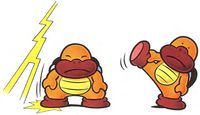 Artwork of Sumo Brothers from Super Mario World