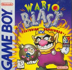 The game cover of Wario Blast: Featuring Bomberman!