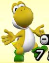 Yellow Yoshi from Mario Super Sluggers