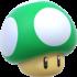 Artwork of a 1-Up Mushroom, from Super Mario 3D World.