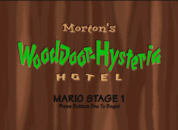 The title card for Morton's Wood Door Hysteria Hotel.