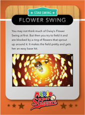 Level 2 Flower Swing card from the Mario Super Sluggers card game