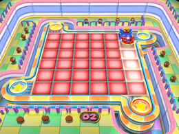 Toadette wins in Light Speed from Mario Party 7