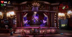 The Lounge in the Twisted Suites in Luigi's Mansion 3