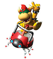 Mario Party 6 promotional artwork: Koopa Kid riding on the insect automobile. Inspired from the minigame Insectiride, version 1