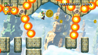 Screenshot of Fire Bar Sprint in New Super Luigi U.
