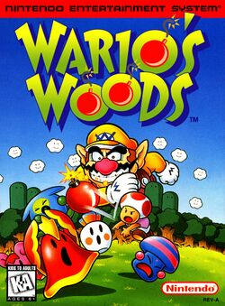 The front of the Wario's Woods boxart