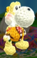 Isabelle (winter outfit) amiibo from Poochy & Yoshi's Woolly World