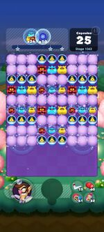 Stage 1043 from Dr. Mario World