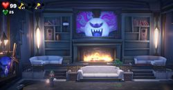 The Drawing Room of the Master Suite in Luigi's Mansion 3