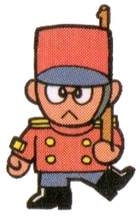 Artwork of a Kiddokatto, from Super Mario Land 2: 6 Golden Coins.