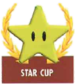 Mario Kart: Super Circuit promotional artwork: The Star Cup emblem.