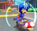 The icon of the Bowser Cup challenge from the Mario vs. Peach Tour in Mario Kart Tour.